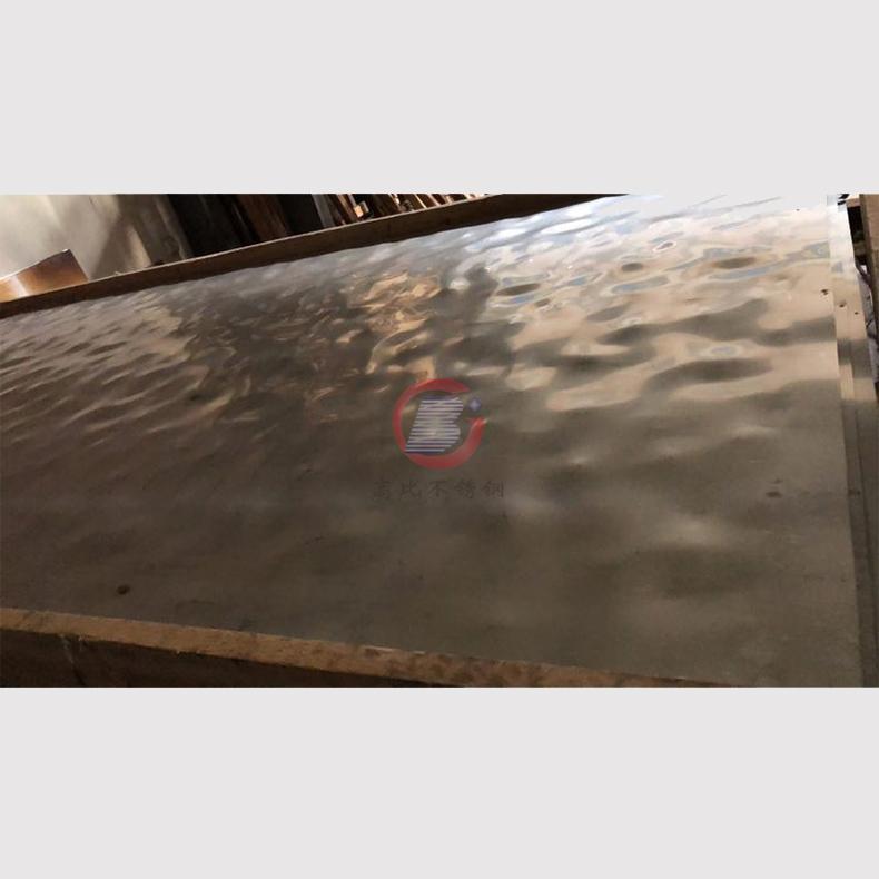 高比玫瑰金鏡面大水波紋不鏽鋼板 1