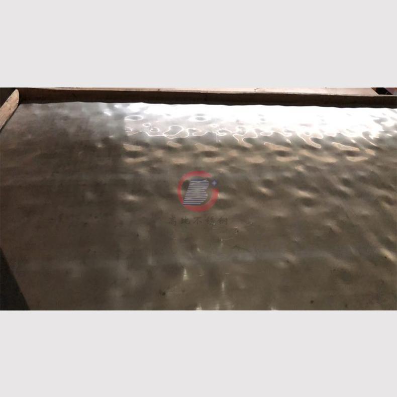 高比玫瑰金鏡面大水波紋不鏽鋼板 4