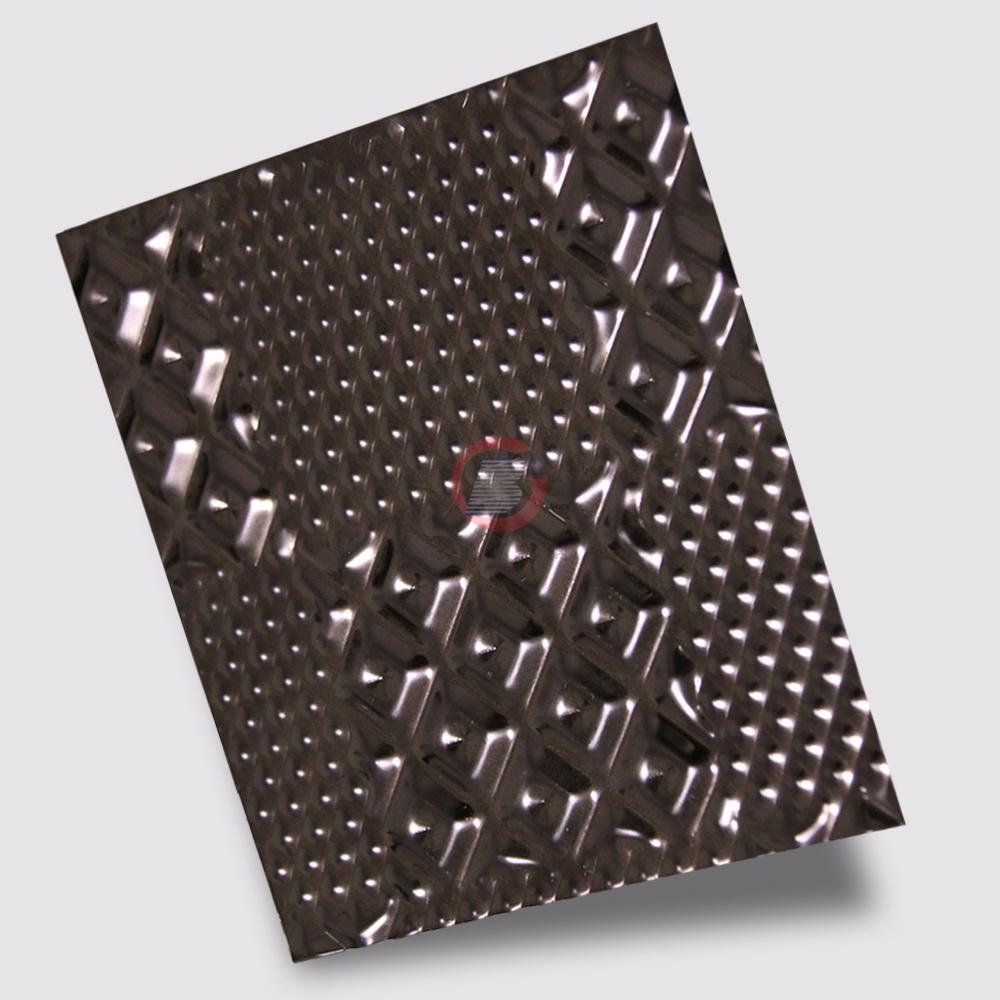 高比304黑色不锈钢冲压布丁花纹 1