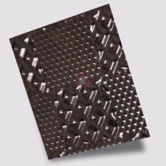 高比304黑色不锈钢冲压布丁花纹