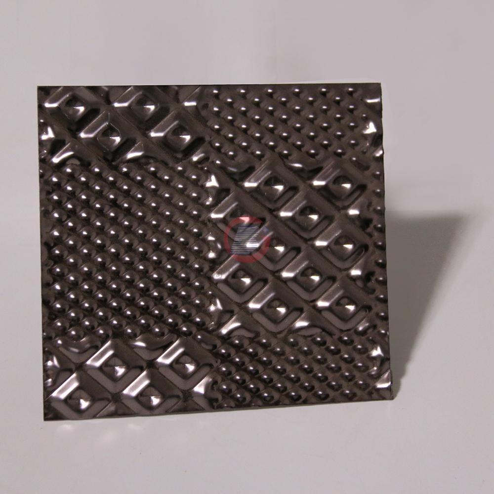 高比304黑色不锈钢冲压布丁花纹 2