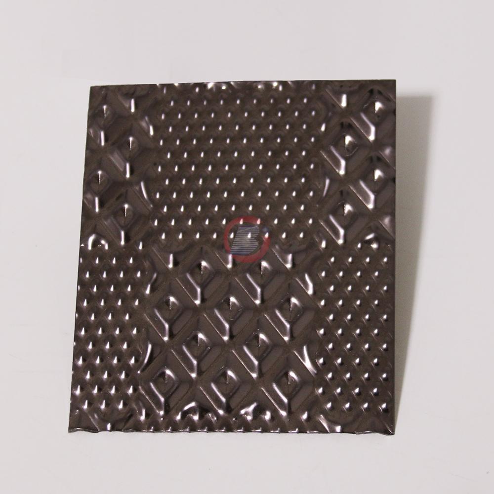 高比304黑色不锈钢冲压布丁花纹 4