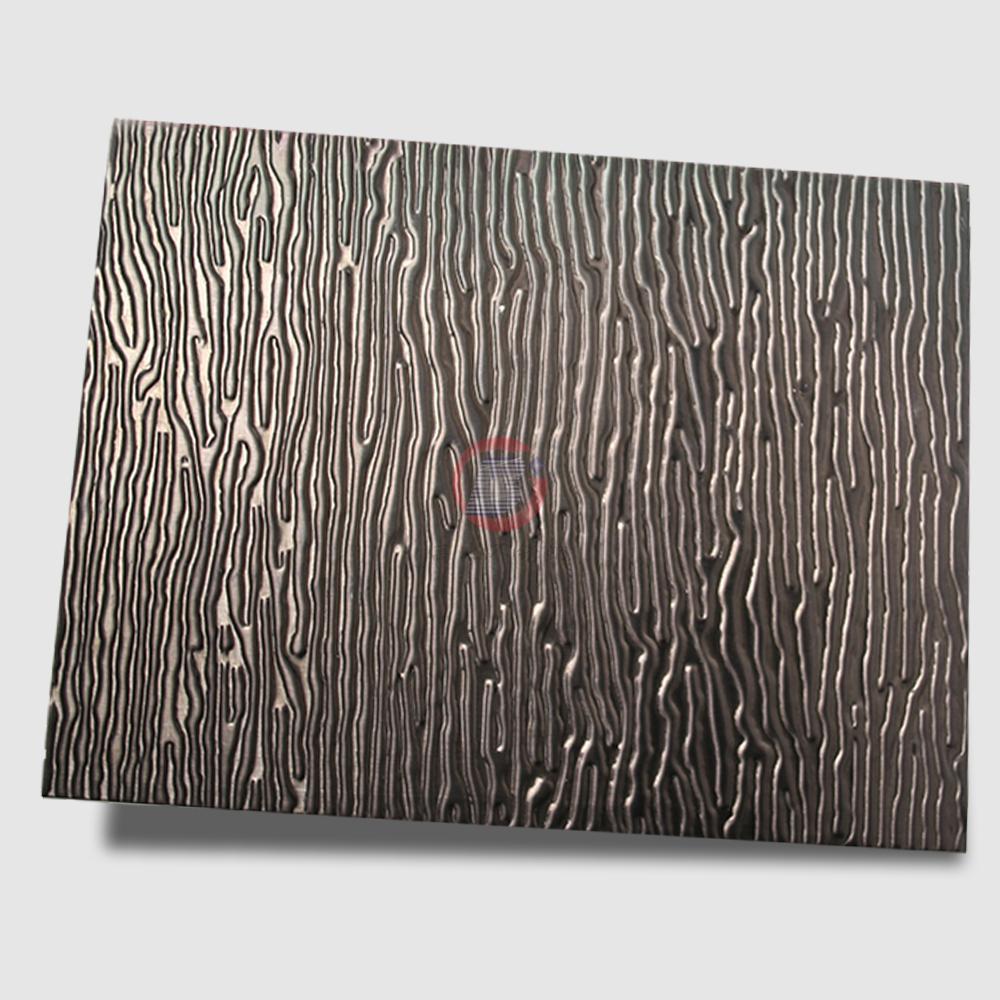 高比304L黑色不锈钢冲压木纹 1