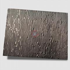 高比黑色不鏽鋼沖壓木紋