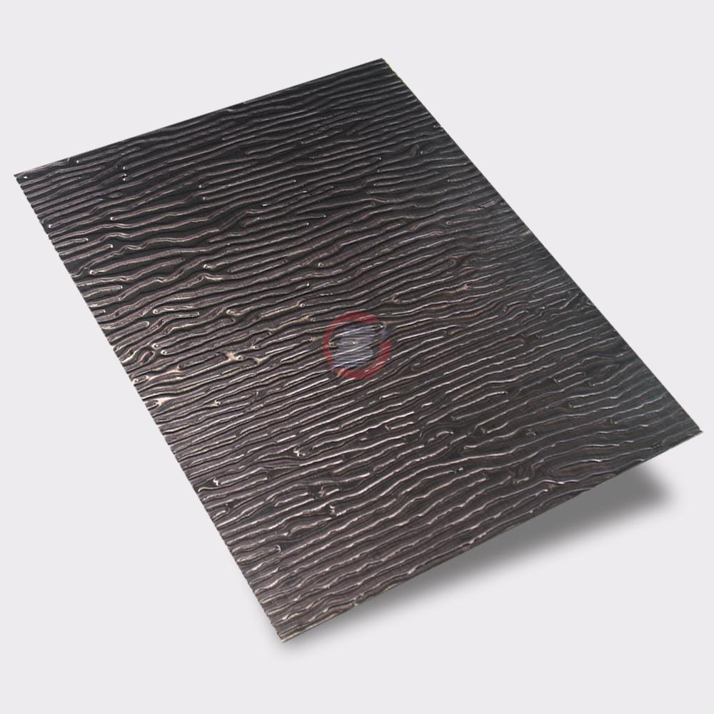 高比黑色不锈钢冲压木纹 2