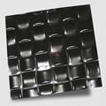 高比304不锈钢黑色镜面编织压花板 1