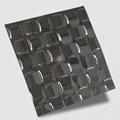 高比304不鏽鋼黑色鏡面編織壓花板 4