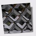 高比316不鏽鋼黑鈦鏡面菱形方