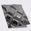高比316不锈钢黑钛镜面菱形方格压花 2