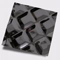 高比316不鏽鋼黑鈦鏡面菱形方格壓花 3