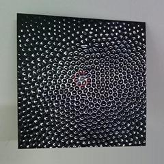 高比304黑钛镜面不锈钢冲压蜂窝纹