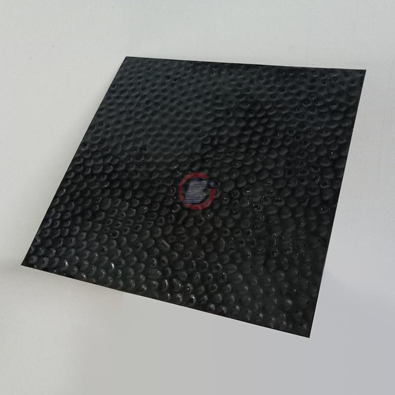 高比304黑钛镜面不锈钢冲压蜂窝纹 3