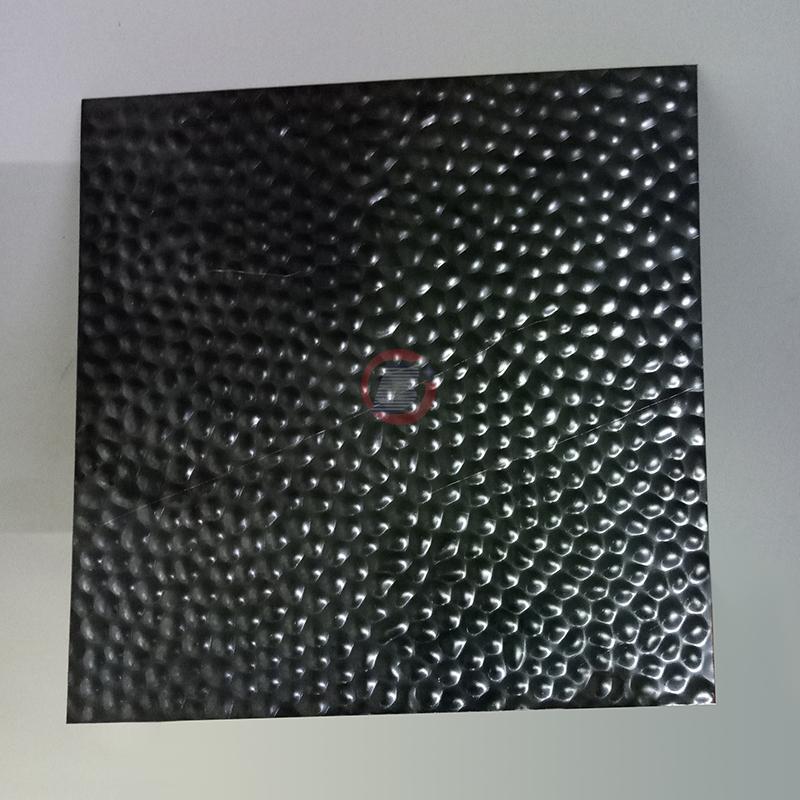 高比304黑钛镜面不锈钢冲压蜂窝纹 6