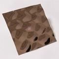 高比304不锈钢镜面玫瑰金水立方体花纹
