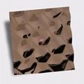 高比304不鏽鋼鏡面玫瑰金水立方體花紋 4