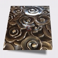 High Ratio 316 stainless steel wire-drawn bronze Xiangyun embossed panel