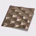 高比304不锈钢压花镜面玫瑰金菱形 4