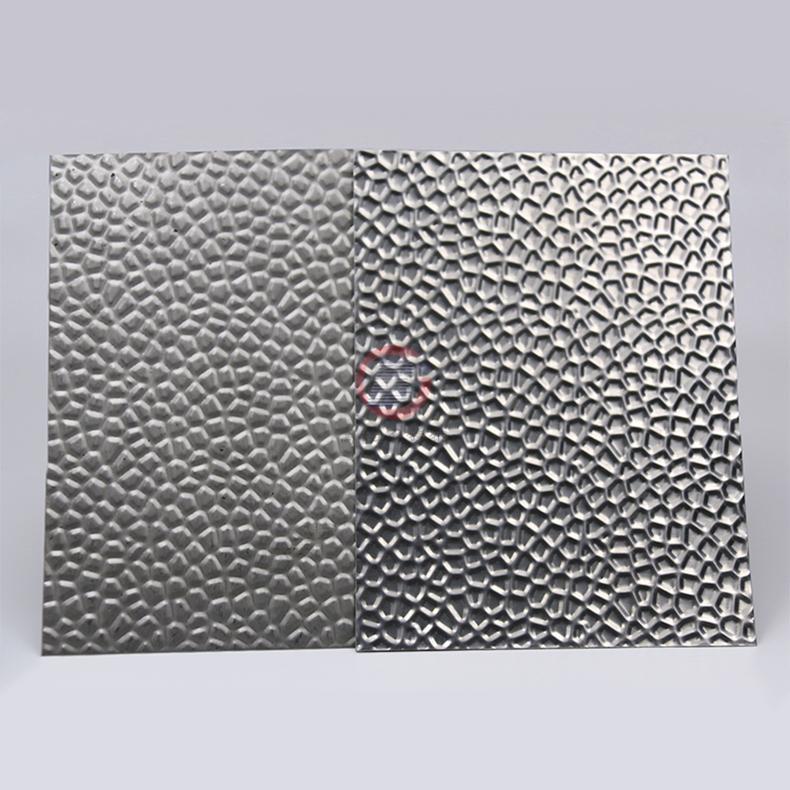 高比304不鏽鋼壓花鏡面蜂窩紋 酒店彩色不鏽鋼材料 1