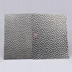 高比304不锈钢压花镜面蜂窝纹 酒店彩色不锈钢材料