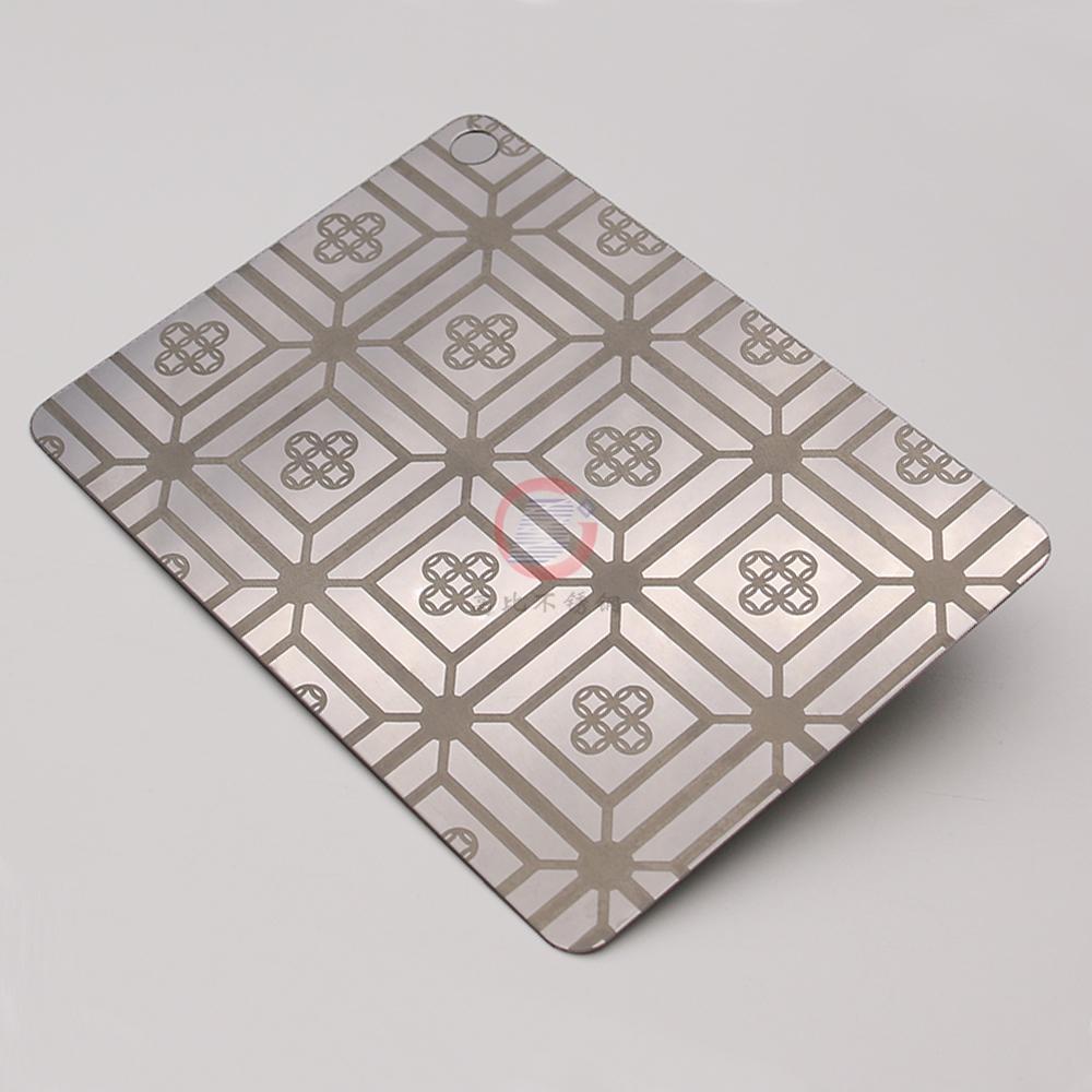 高比304不鏽鋼鏡面蝕刻銅錢福 1