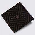 高比304不锈钢拉丝红古铜发黑蚀刻板 2