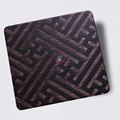 High ratio 304 stainless steel wire drawing red copper hair black etching plate 3
