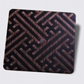 High ratio 304 stainless steel wire drawing red copper hair black etching plate 4