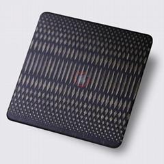 高比304不鏽鋼青古銅拉絲蝕刻米粒紋