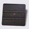高比304不锈钢青古铜拉丝蚀刻米粒纹