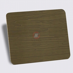 高比青古銅不鏽鋼蝕刻粗樹皮花紋