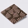 High ratio 316 stainless steel mirror bronze etching sandblast local pattern