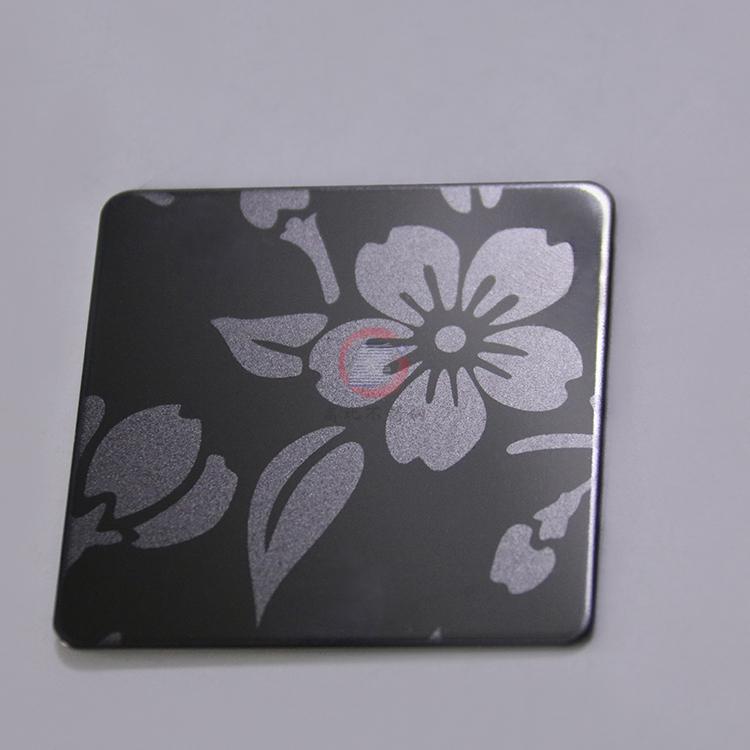 高比316黑钛喷砂不锈钢蚀刻梅花 1