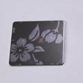 高比316黑钛喷砂不锈钢蚀刻梅花