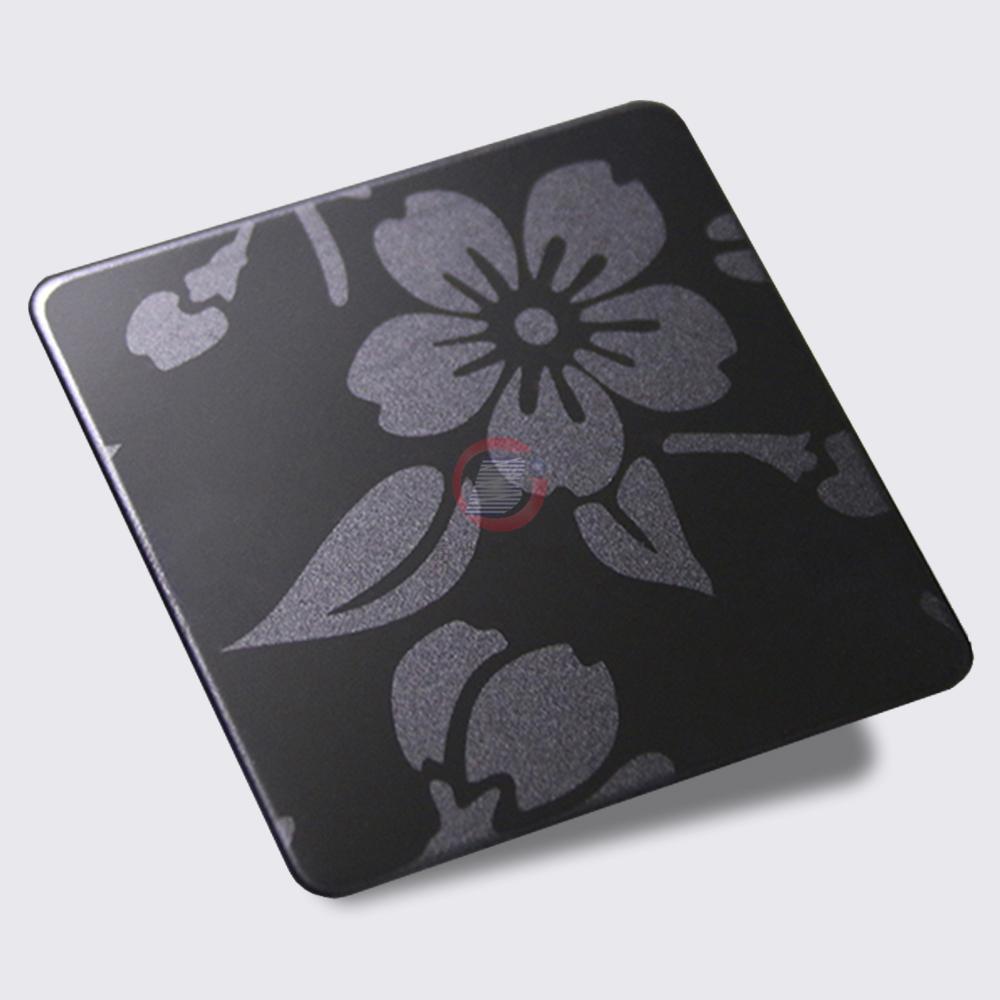 高比316黑钛喷砂不锈钢蚀刻梅花 3