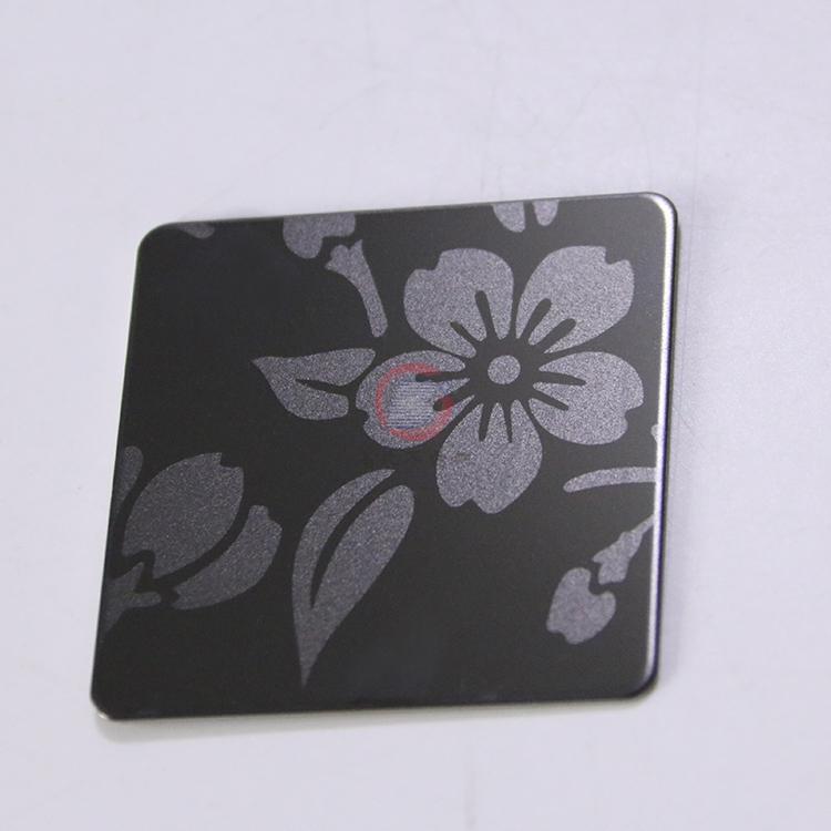 高比316黑钛喷砂不锈钢蚀刻梅花 4
