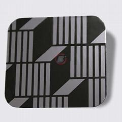 高比304镜面黑钛不锈钢蚀刻立体方格