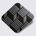 高比304镜面黑钛不锈钢蚀刻立体方格 3