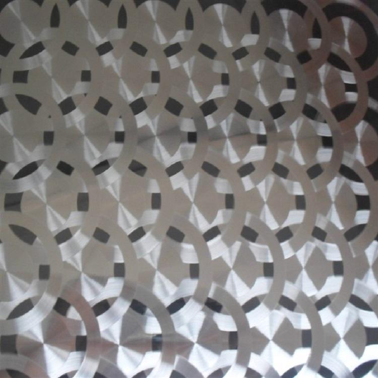 高比304镜面不锈钢镭射圆圈花纹 1