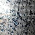 High Ratio 201 Mirror Stainless Steel Laser Butterfly love flower