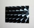 高比304镜面黑钛不锈钢镭射鱼鳞纹 2