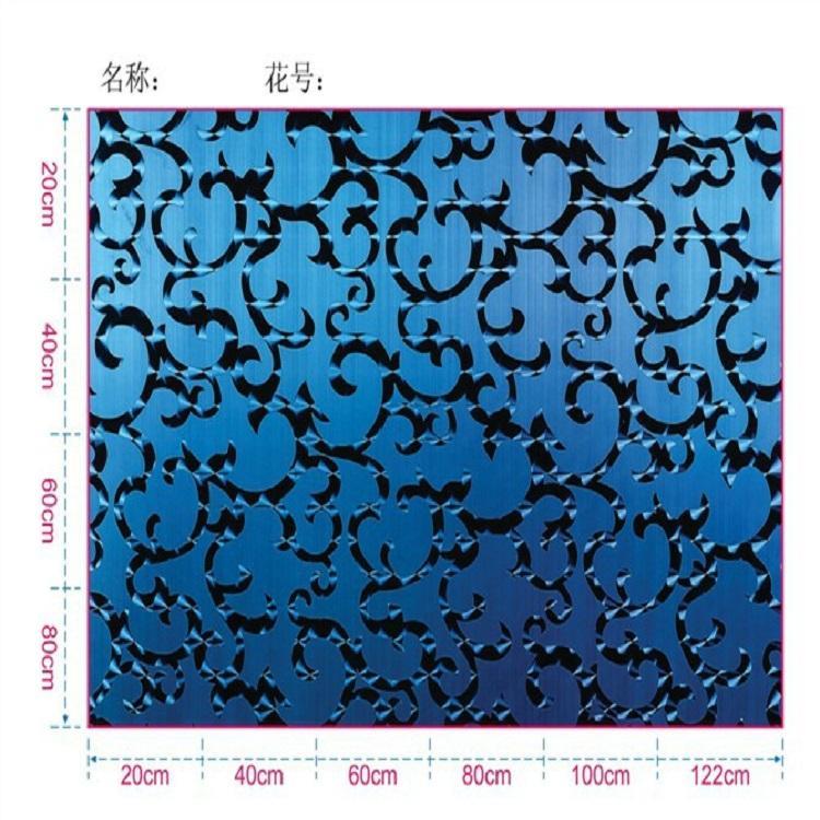 高比304鏡面黑鈦不鏽鋼鐳射魚鱗紋 4