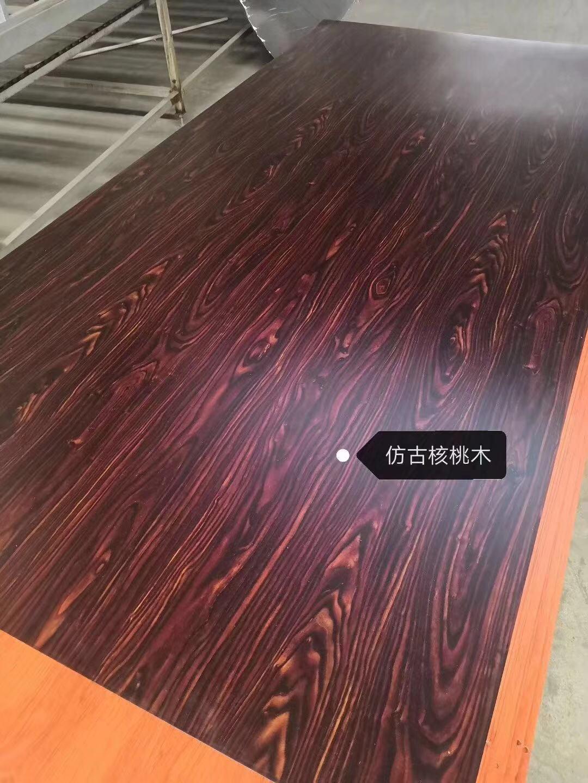 高比316熱轉印不鏽鋼板大紅楓木 3