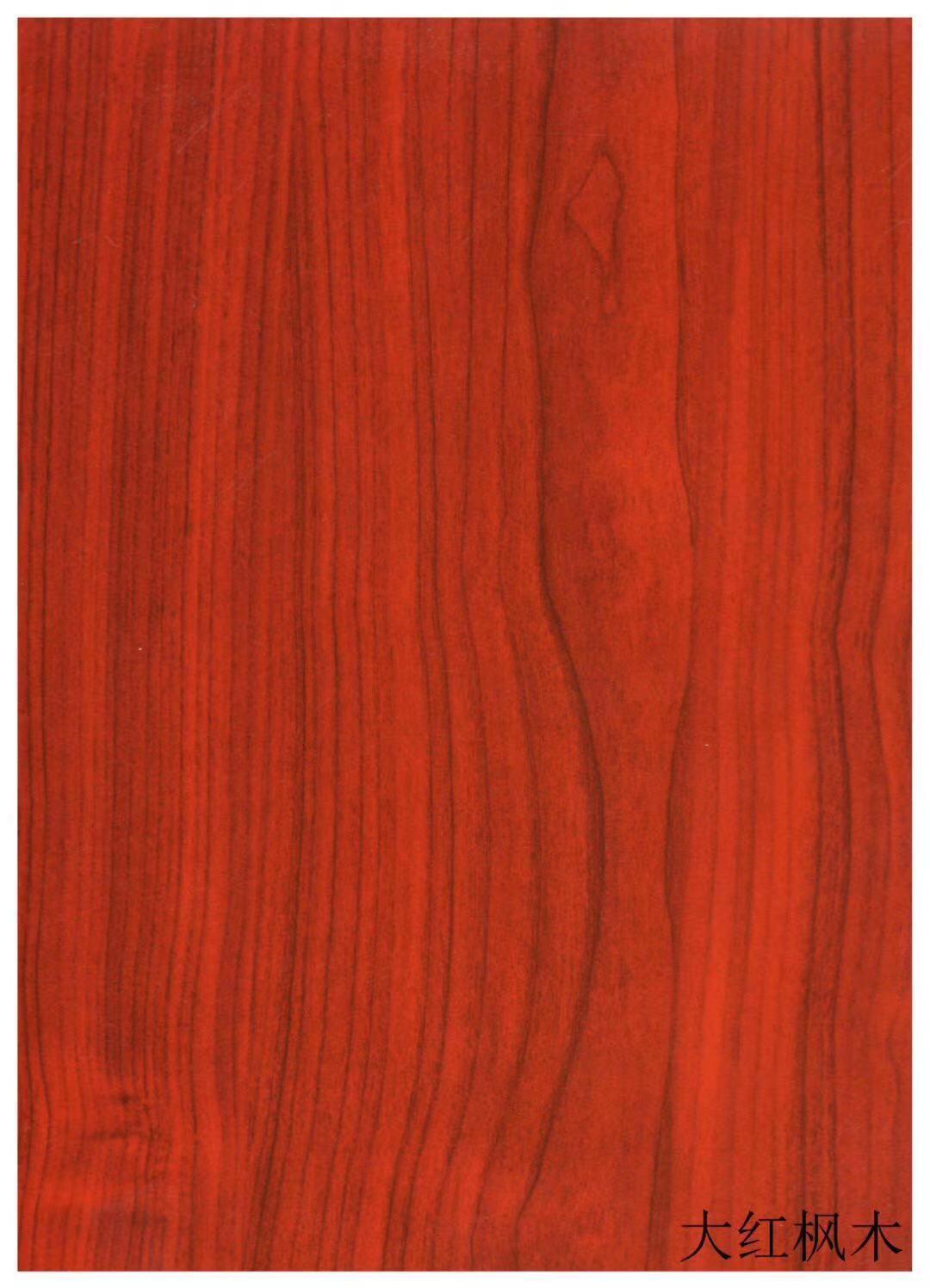 高比316熱轉印不鏽鋼板大紅楓木 1