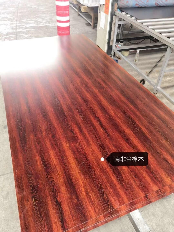 高比不鏽鋼板熱轉印南非金橡木 1