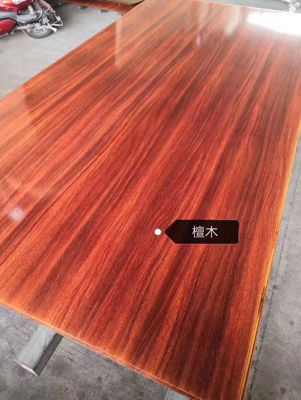 高比不鏽鋼亮光香檀木紋 優質不鏽鋼門板材料 5