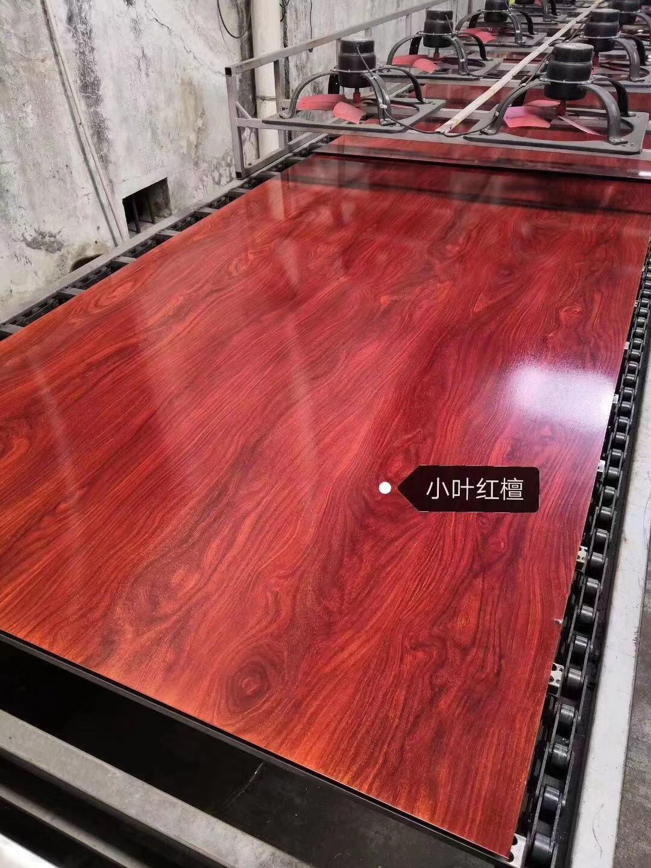 高比彩色不锈钢木纹板 樱桃木不锈钢门板 2