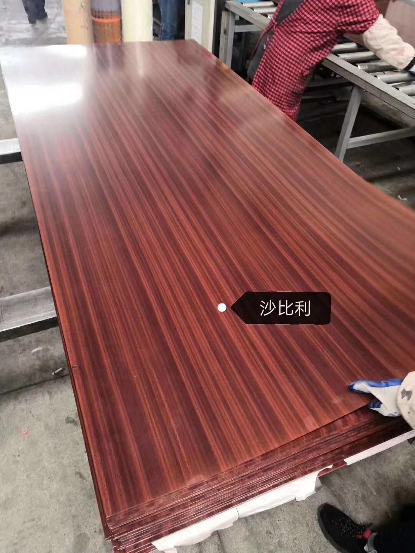 高比不鏽鋼電梯門板 熱轉印鋼板小松木 5