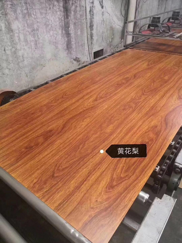 高比金属装饰材料 亮光不锈钢热转印虎斑木 2