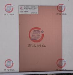 CS-3010 發紋鍍古銅不鏽鋼板 高比抗指紋不鏽鋼板
