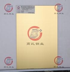 Gaobi CS-2878Mirror surface zirconium-plated gold, stainless steel plate